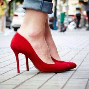 scarpins rouge
