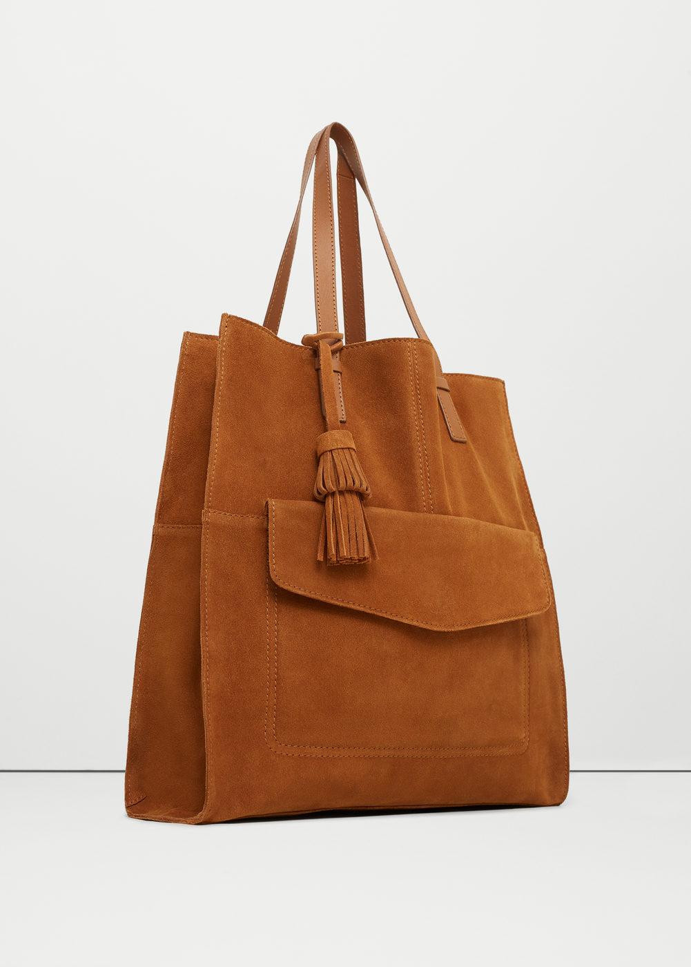 sac shopper en cuir camel