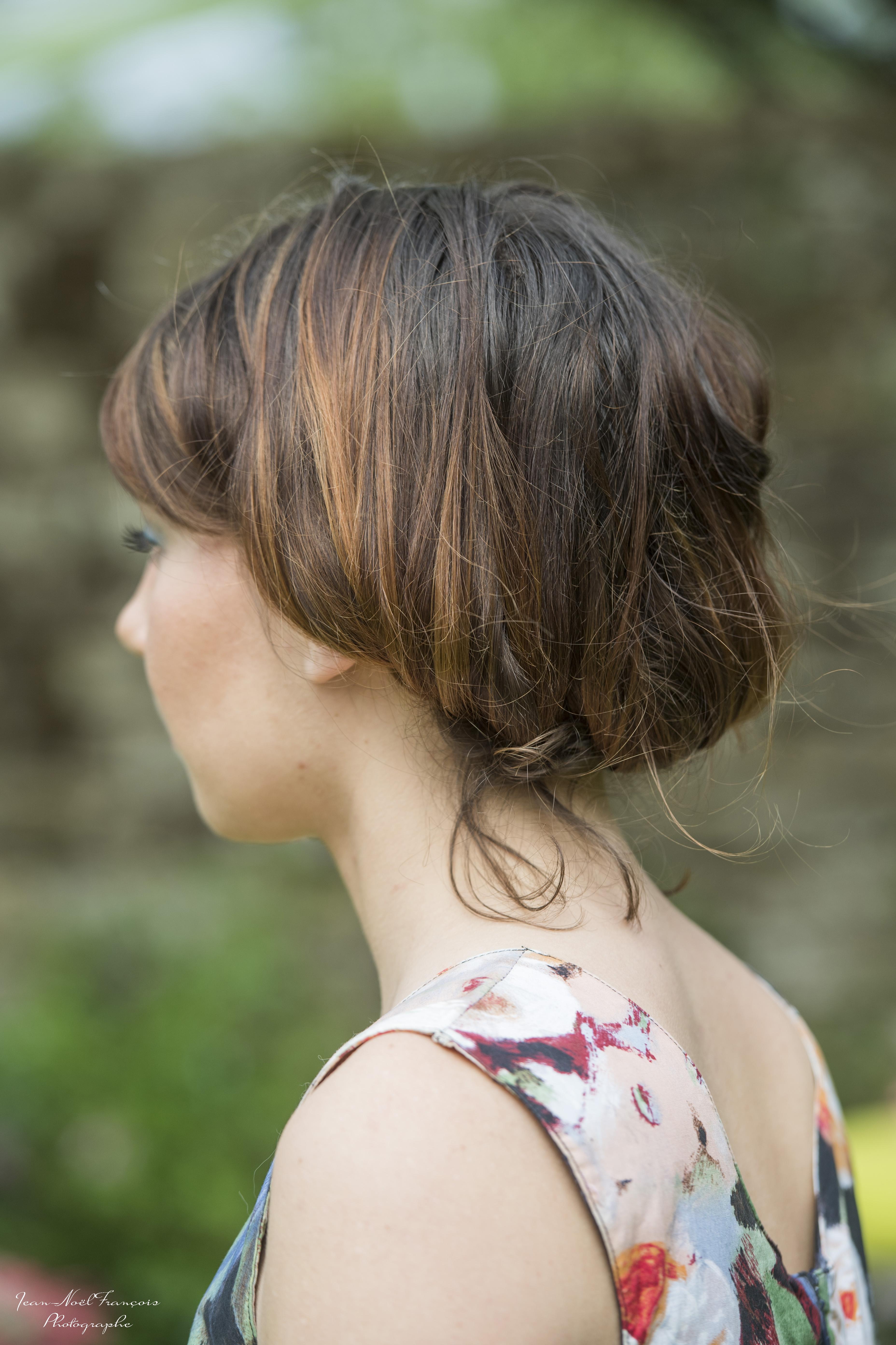 jolie coiffure champêtre