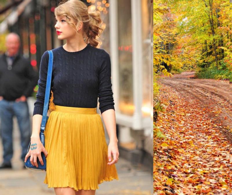 porter les couleurs  d' automne