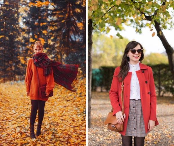 porter les couleurs d'automne
