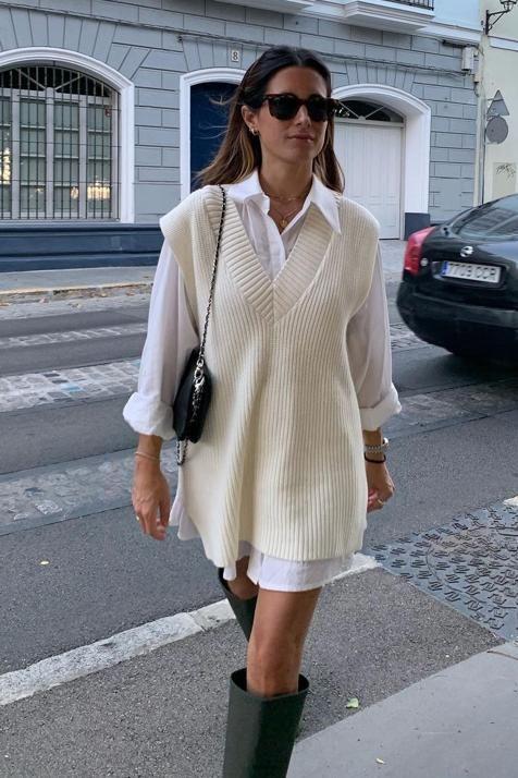 porter une tunique  en laine